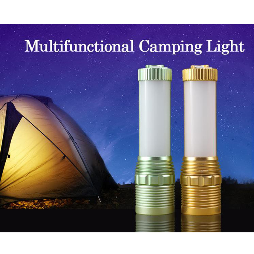 Multifunctional LED Flashlight Rechargeable Torch Zoom Portable Camping Light Reading Table Desk Light High Power Waterproof