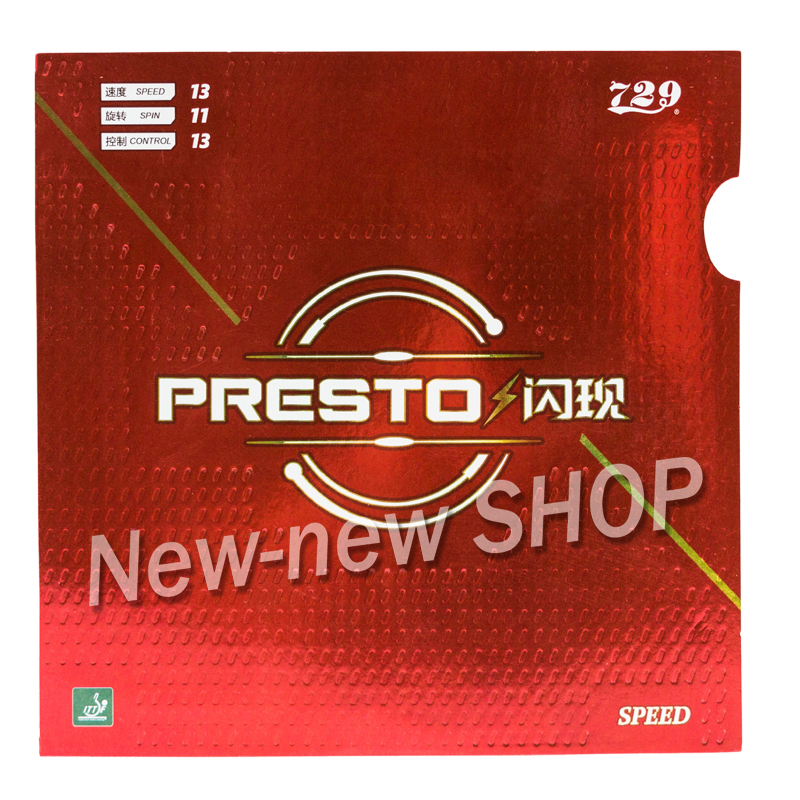 Friendship 729 PRESTO Spin / Speed (2018 New, Non-sticky Rubber + Macroporous Sponge) Table Tennis Rubber Ping Pong Sponge