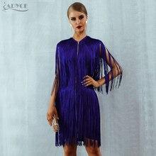 Adyce 2020 뉴 여름 프린지 붕대 드레스 여성 섹시한 O 넥 민소매 Tassels 미니 탱크 드레스 우아한 클럽 파티 드레스 Vestido