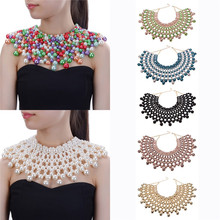 10 Colors Chunky Statement Necklace For Women Neckcklace Bib Collar Choker Handmade Necklace Maxi Jewelry