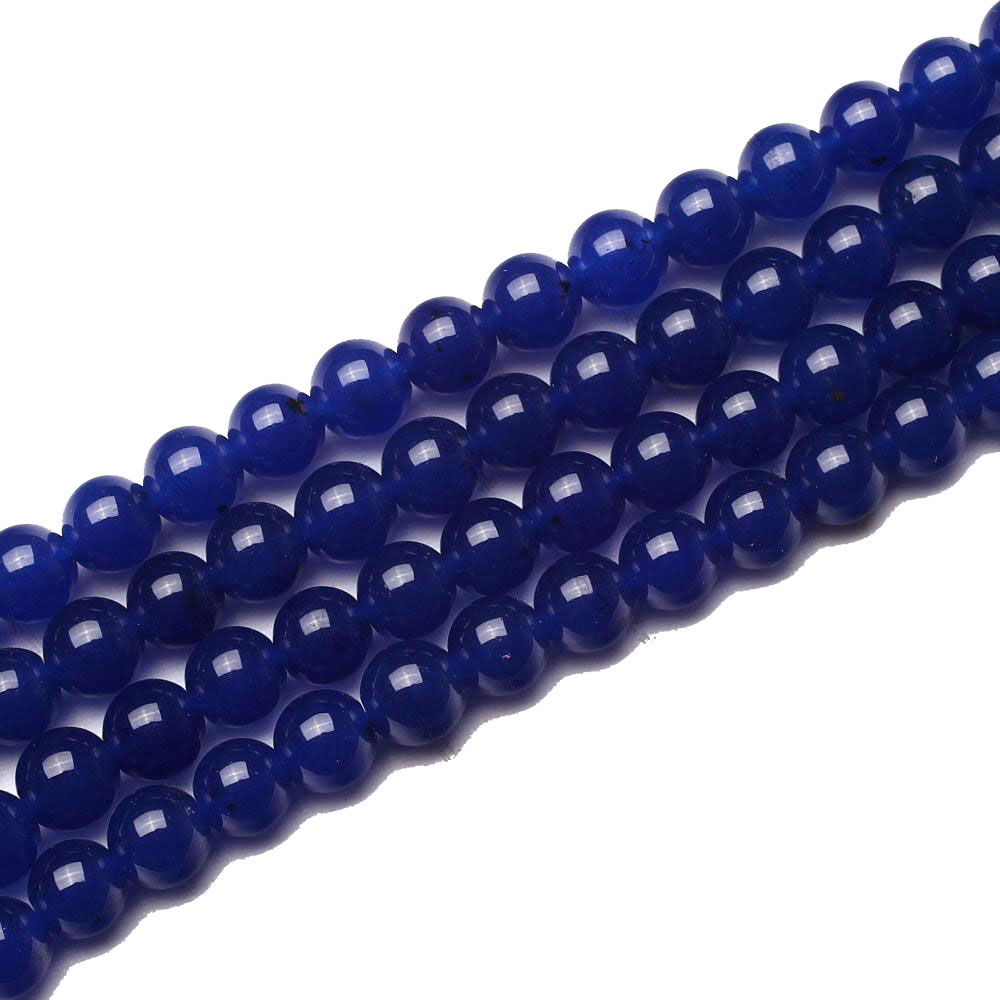 இCuarzo Cuentas al por mayor 4 6 8 10 12mm azul liso estriado ...