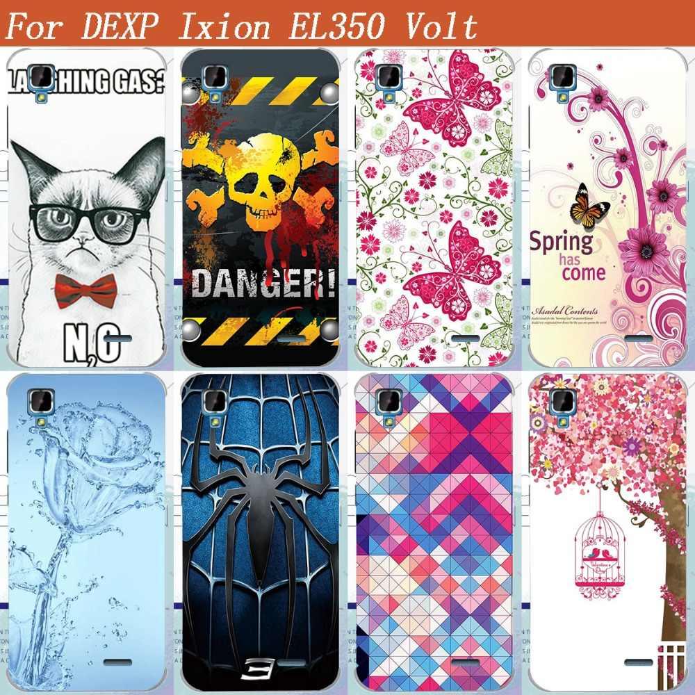 HOT Jual Lukisan Pelindung Phone Cover Untuk DEXP Ixion EL350 Volt LEMBUT TPU Painted Telepon Kembali Penutup Kasus Ixion EL350 Volt