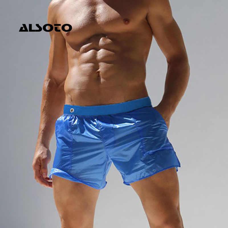 a474e06b824dd ALSOTO шорты мужские мужские шорты купальники больших размеров шорты пляж  сексуальные полупрозрачные шорты Для мужчин Maillot