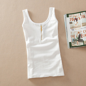 Image 2 - New Arrival Women Fashion Summer casual Solid Cotton Sleeveless Vest Tank Tops t shirt Candy Color Basic Crop Bustier Top Women