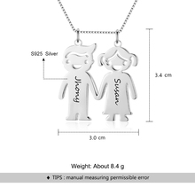 Lovely Boy &  Girl Shape Personalized Engrave Name Necklace