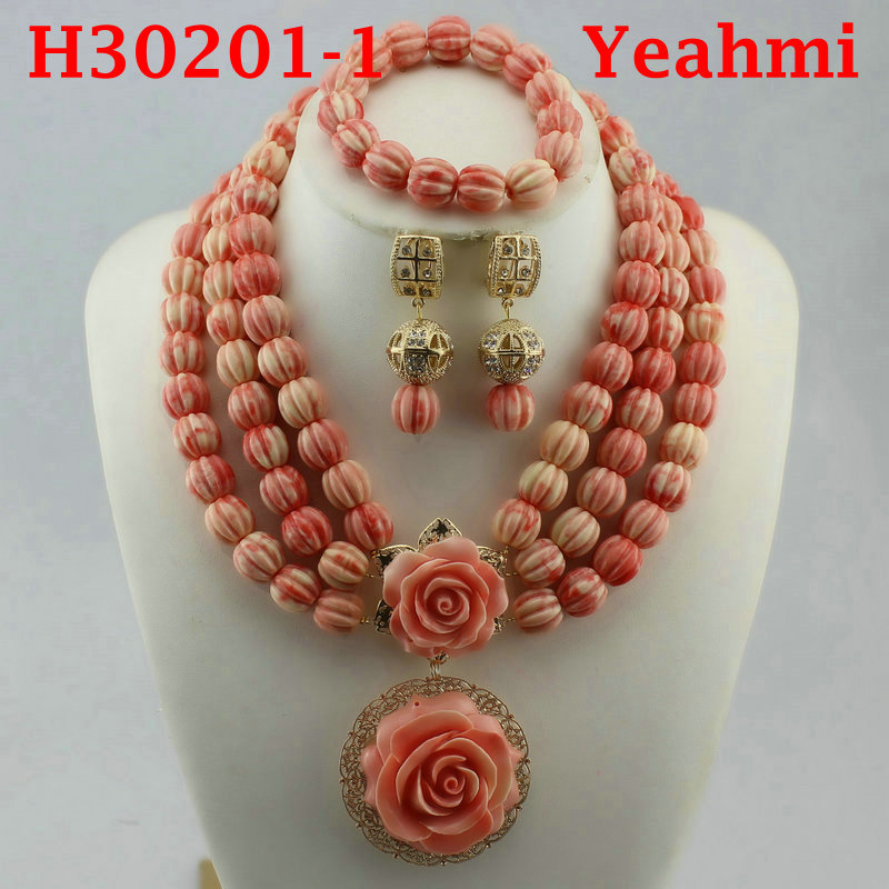 Fantastic Gold Bridal Beads African Jewelry Set Nigerian Women Costume Wedding Statement Necklace Set H30201-2Fantastic Gold Bridal Beads African Jewelry Set Nigerian Women Costume Wedding Statement Necklace Set H30201-2