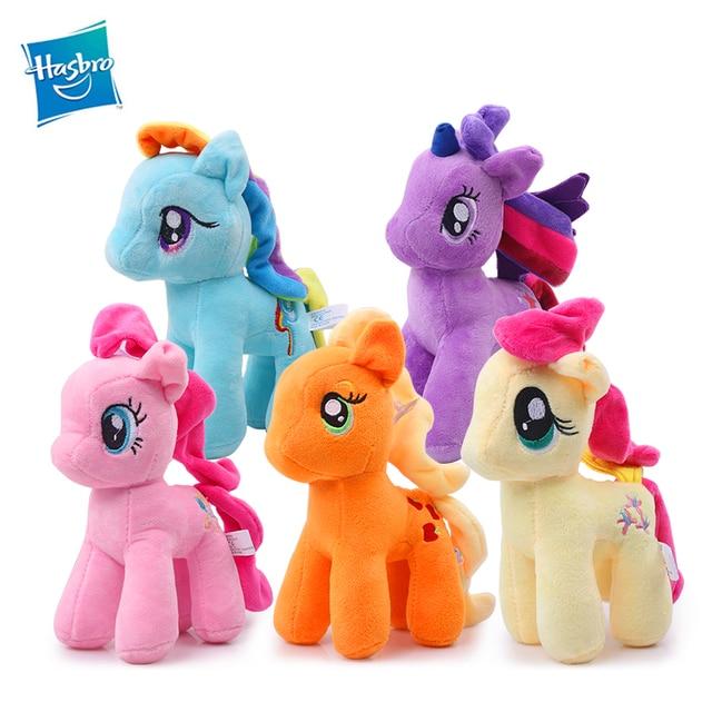 24cm Hasbro My Little Pony Plush Stuffed Dolls Friendship is Magic Princess Rainbow  Dash Pinkie Pie 6a652d6acf98