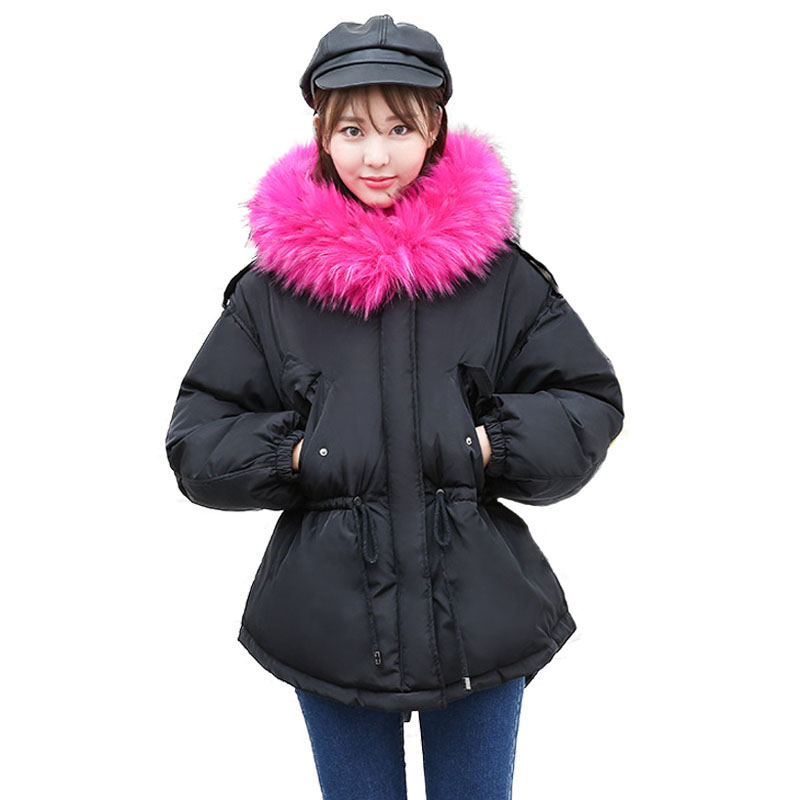 New Arrivals 2017 Winter Jacket Women Hooded Fur Collar Thicken Warm Quilted Jackets Parka Women Cotton Padded Coat High Quilty quilted jacket male mid long parka new winter thicken warm hooded fur collar cotton padded coat men s snow jackets windproof