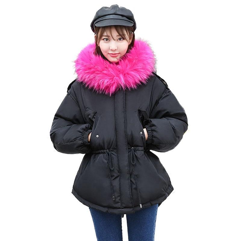 New Arrivals 2017 Winter Jacket Women Hooded Fur Collar Thicken Warm Quilted Jackets Parka Women Cotton Padded Coat High Quilty цены онлайн