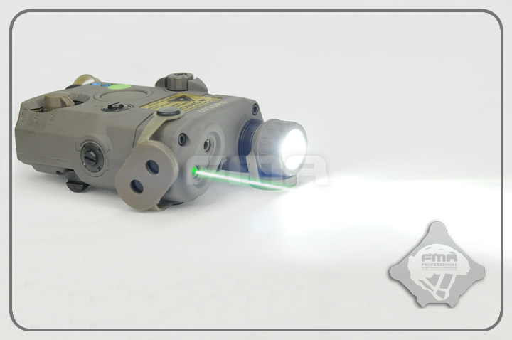 FMA PEQ LA5 Upgrade Version LED White light + Green laser with IR Lenses Torch Camping for Helmet Hunting TB0077/TB0075/TB0073