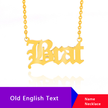 Personalized Name Necklace Customize Gold Necklaces Pendants BFF Old English Custom For Womens Clothing & Accessories