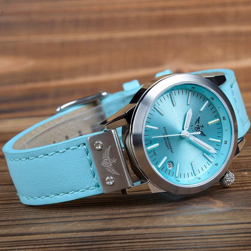 新しい到着yelang v1010アップグレードバージョンt100トリチウムブルー発光防水レディ女性ファッションカジュアルクォーツ時計腕時計  グループ上の 腕時計 からの レディース腕時計 の中 3