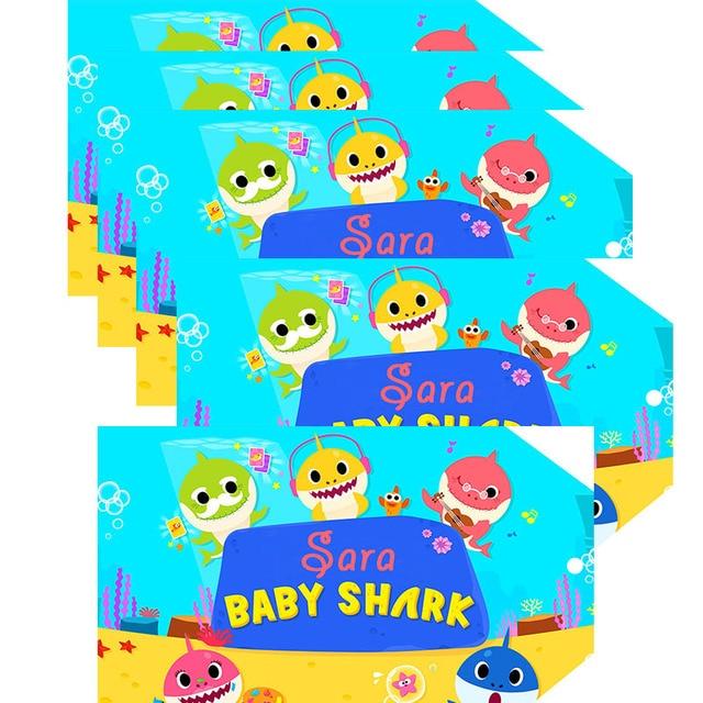 Baby Shark Doo Doo Favor Tags Thank You Tags Gift Favors Birthday