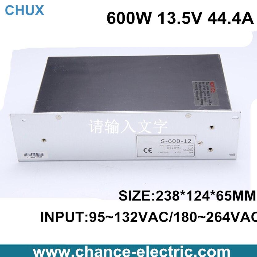 ФОТО 13.5v power supply 600w   44.4A  110 or 220V to 13.5v  for cnc  led light (S-600W-13.5V) free shipping
