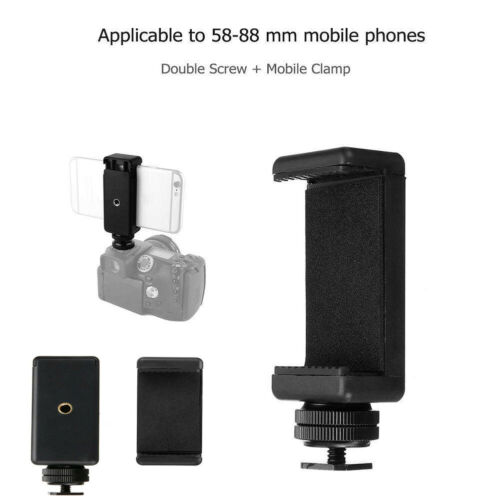 Durable Phone Clip Bracket Holder Mount For Tripod Monopod Stand For Apple IPhone XS XR X 8 8p 7 6 Samsung S10 S10+