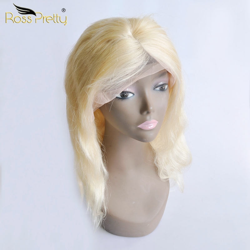 Ross Pretty Hair Blonde Brazilian Hair Lace Frontal Wigs Quality Human Hair Brazilian Body Wave Lace Wigs Hot Sale