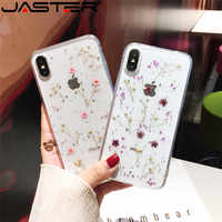 For iphone XR XS Max Cover Qianliyao Real Flowers Dried Flowers Transparent Soft TPU Cover For iPhone X 6 6S 7 8 plus Phone Cas