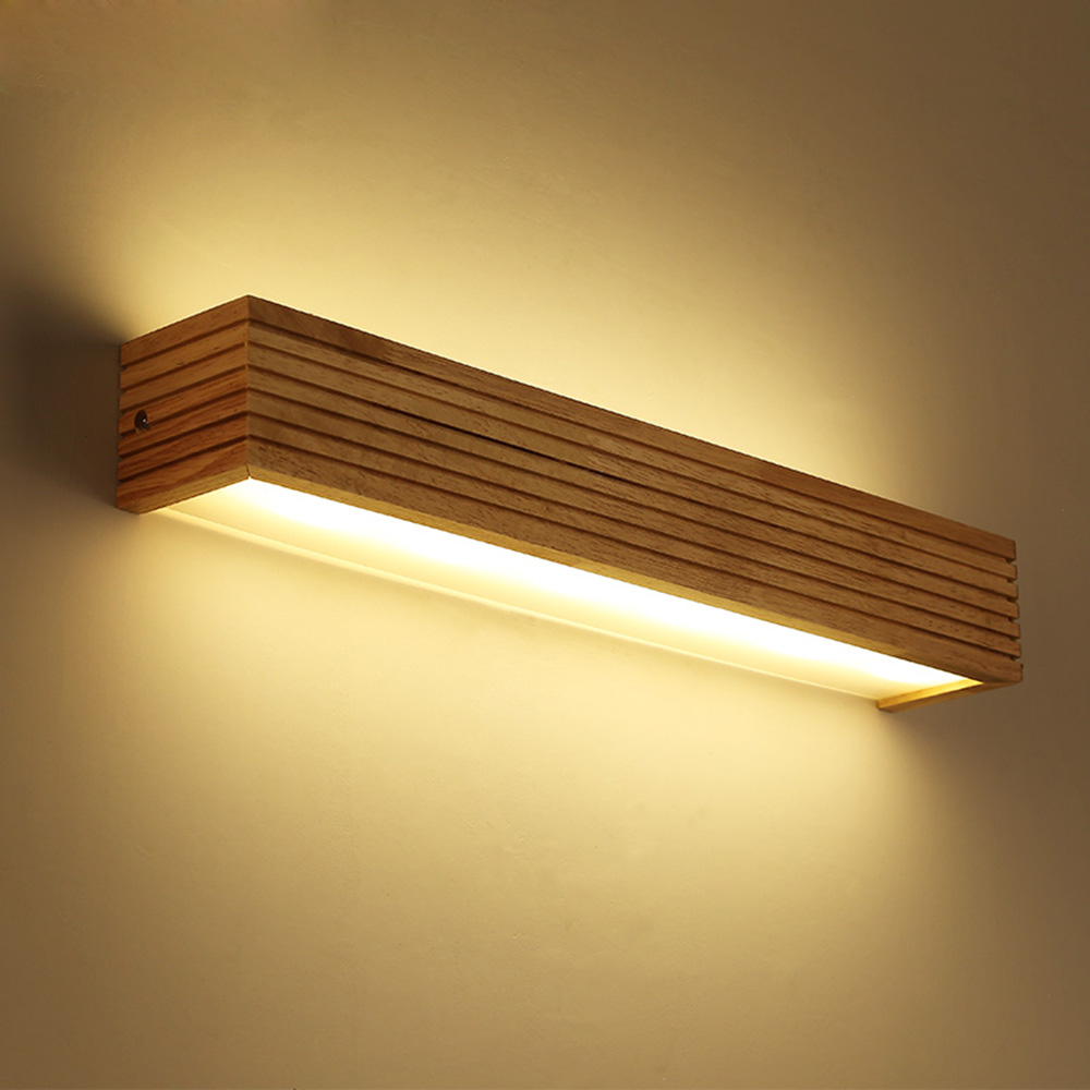 Modern Nordic Wood LED Wall Light Cabinet Makeup Mirror Lamp Bedroom Bedside Lamp Wall Sconce Lamp Decor Art Light FixtureModern Nordic Wood LED Wall Light Cabinet Makeup Mirror Lamp Bedroom Bedside Lamp Wall Sconce Lamp Decor Art Light Fixture