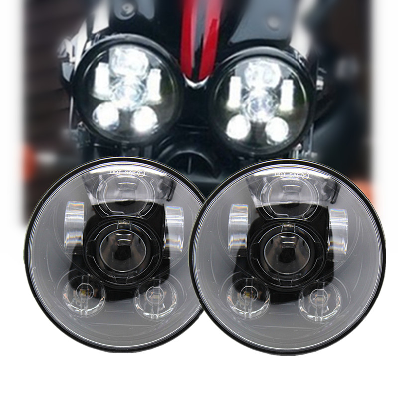 2 X Motorcycle Accessories 5 3/4 Harley Daymaker Headlight 5.75 Ricjet III LED Headlamp 5 3/4 For Triumph Rocket 3 For Harley