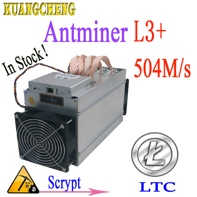Используется ANTMINER L3 + 504 м 800 Вт Scrypt Asic шахтер LTC добыча машина без питания более экономичным чем antminer s9 Z9 DR3 T9 A4 + A9