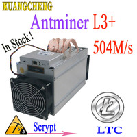 Used ANTMINER L3+ 504M 800W Scrypt Asic miner LTC Mining Machine without power More economical than antminer s9 Z9 DR3 T9 A4+ A9