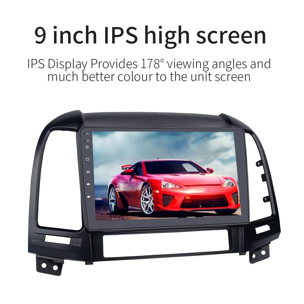 "Image 3 - Android 9.0 Car Multimedia for Hyundai Santa Fe GPS Navigation 2006 2007 2008 2009 2010 2011 9"" IPS Screen G+G 4g 32gCar Multimedia Player   -"