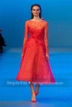 2016 Elie Saab Design Abendkleid Tulle Mit Blumen Luxus Kleider Cocktail Party Robe De Soiree MY1019-17