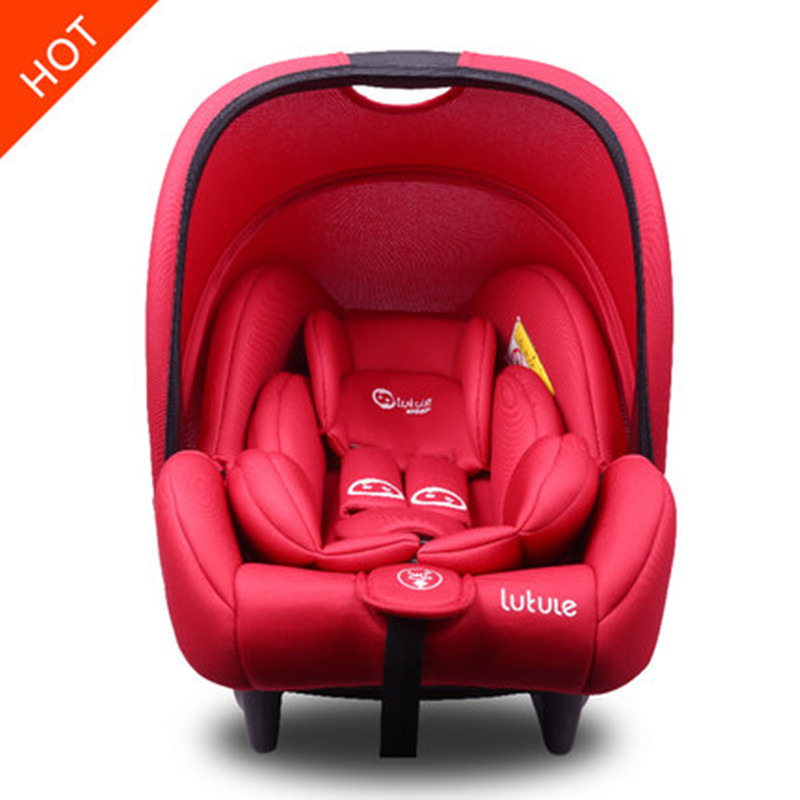 Child safety seat car portable newborn baby safety basket for 0-13months newbrons group1 baby cradle four colors infant basket style safety car seat baby car seat portable child automotive safety seats kids outdoor handle cradle