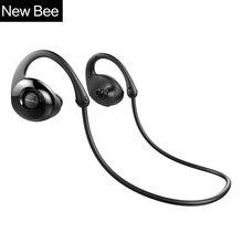 Nueva Bee Caracol Auricular Bluetooth Inalámbrico Auriculares Estéreo Deporte Auricular con Micrófono Unidad de Grafeno APP para PC Phone