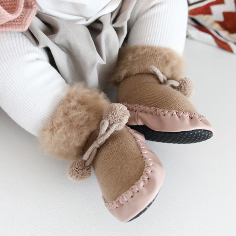 0 4 Years Old New Autumn Winter Plush Tube Baby Toddler Socks Warm Non slip Dispensing Soft Bottom Floor Socks Baby Winter Socks in Foot Socks from Mother Kids