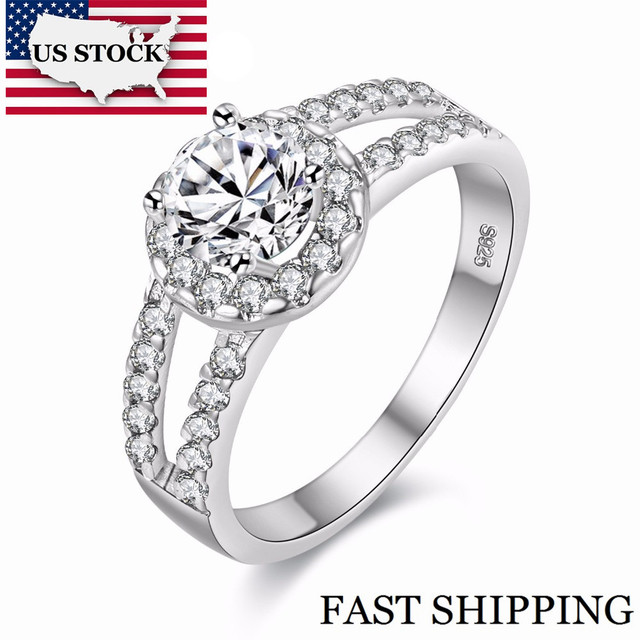 US STOCK 15% Rainbow Custume Jewelry Ring Silver Color Mystic Ring for Women Anillos Mujer Anel Feminino Marriage Jewellery J510