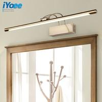 iYoee Modern Bronze Indoor LED Wall Lights Top Mirror Nickel vanity Picture Lighting Fixtures 45 75cm long Bathroom Light 220V