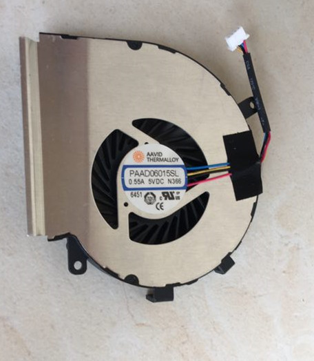 New for MSI GE62VR GE72VR GP62VR GP62MVR GP72VR GL62M Laptop CPU Cooling Fan AAVID PAAD06015SL N366 4-Pin computador cooling fan replacement for msi twin frozr ii r7770 hd 7770 n460 n560 gtx graphics video card fans pld08010s12hh