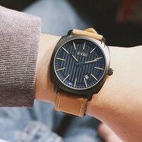 Лидирующий бренд человек Часы синий свет аналоговый световой Дисплей циферблат ретро кожаный ремешок водонепроницаемость кварцевые часы ...