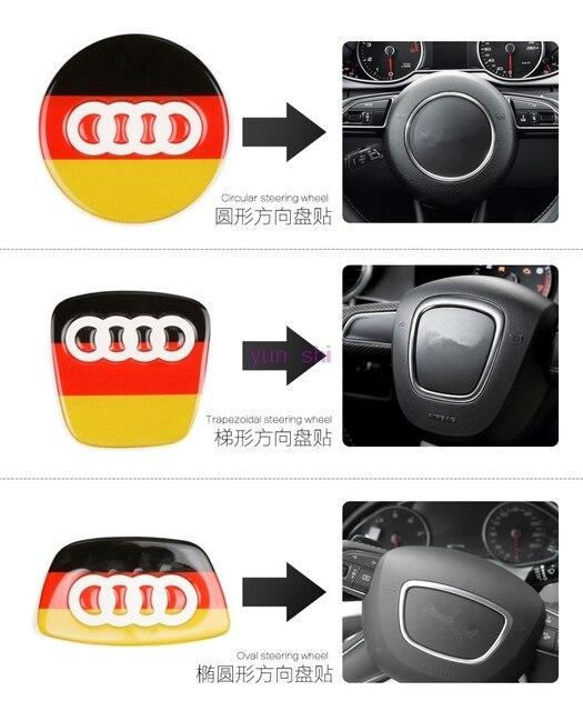 D Colors Car Steering Wheel Emblem Decoration Stickers Car Styling - Audi car colors
