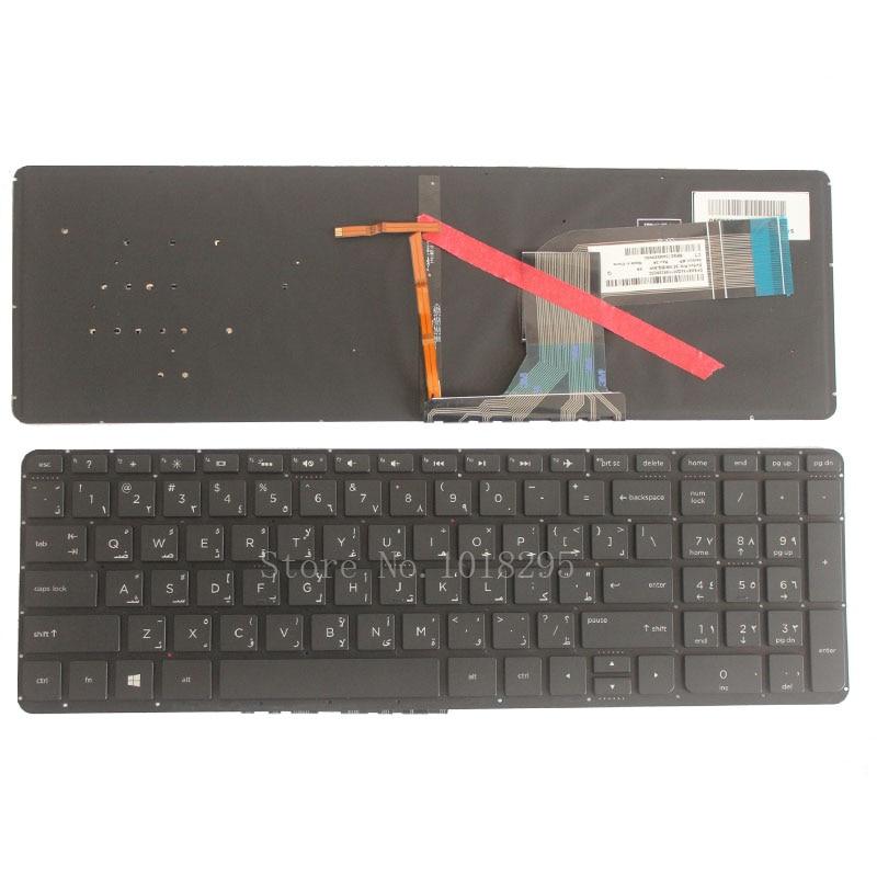 Arabic FOR HP Pavilion 15-P 17-F 17-F07 17-F115 15-p012st 15-p014st 15-p015st 15-p017st AR Black With backlightlaptop keyboard