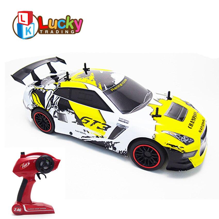 Jouet éducatif Cool télécommande voitures haute vitesse rapide rc voiture de course radiocommande alliage électrique carro de controle remoto