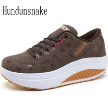 Hundunsnake Women's Sports Shoes Leather Platform Sneakers Women 2017 Basket Femme Ladies Running Shoes Krasovki Gumshoes T269