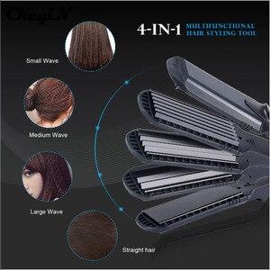 Image 2 - ストレートヘアアイロン & コーンワイド波長板 4 スタイル互換髪ヘアアイロン段ボールフラットアイアン髪カーラースタイラー Tool48