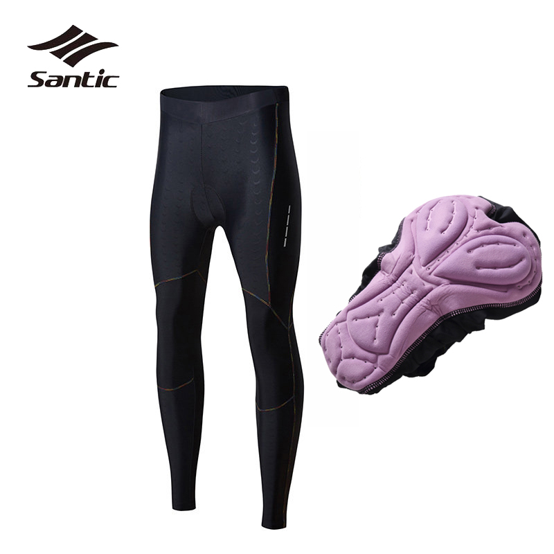 Santic Women Cycling Pants NEW Anti-UV Breathable PRO Road Bike Pants 4D Padded Bicycle Long Pants Bermuda Ciclismo S-2XL pants alpine pro pants