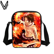 VEEVANV 2017 Hot Sale Anime Messenger Bags One Piece Luffy Ace Franky School Bags Kids Cartoon Shoulder Bags For Children Gifts