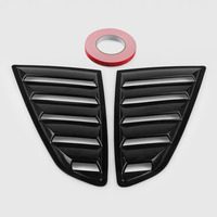 1 Pair Side Window Louvers For 15 18 Ford Mustang 5 Outlets Air Vent Car Styling Exterior Wind Net Accessory Decoration Sticke