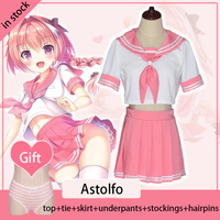 Fate Apocrypha Rider Astolfo Cosplay Costume Fate Grand Order Cosplay FGO Women JK School Uniform Sailor Suit Halloween Costume