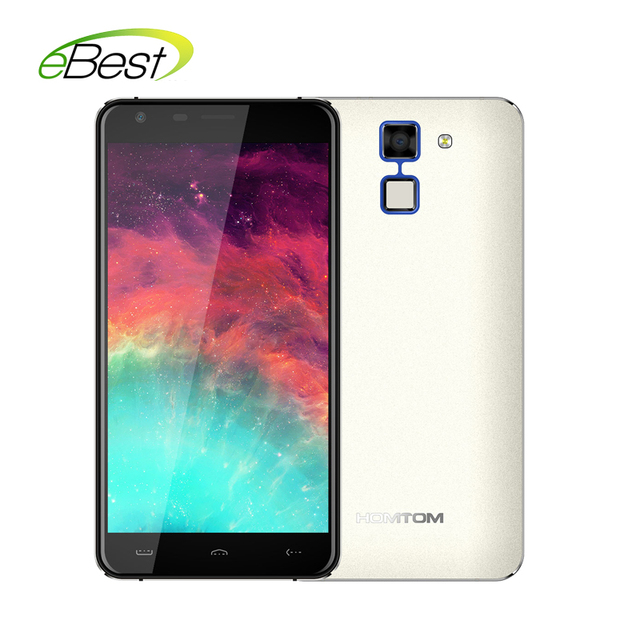 New HOMTOM HT30 Smartphone 3G WCDMA Fingerprint 5.5inch HD MTK6580 Quad Core Android 6.0 1280*720 1GB+8GB 8MP 3000mAh Cellphone