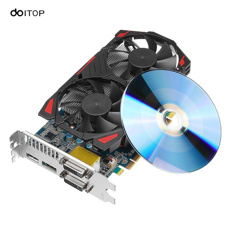DOITOP игры аксессуары дискретные Графика для н VIDIA GTX1050 2 г 128bit D5 GPU настольный компьютер Geforce с HDMI DP видео карты