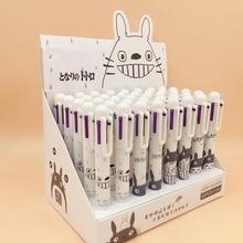 40pcs/lot Korean Cartoon Totoro 6 Colors Muticolor Ballpoint Pen Painting Mark Gift Prize Student Favors Creative Stationery