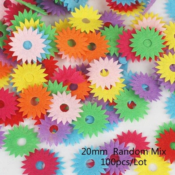 100 шт цветок/Сердце/Бабочка Нетканая фетровая ткань Войлок DIY Набор для шитья кукол скрапбук DIY ремесленные принадлежности - Цвет: Type 5