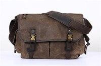 Nesitu Vintage Waterproof Coffee Yellow Army Green Grey Canvas Women Men Messenger Bags 14'' Laptop Shoulder Bag M5355