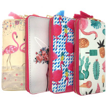 цены KANDRA Fashion Lovely Flamingo Printing Long Wallet Cute Girls Clutch Travel Holder ID Wallet Coin Purse Phone Case Female Purse
