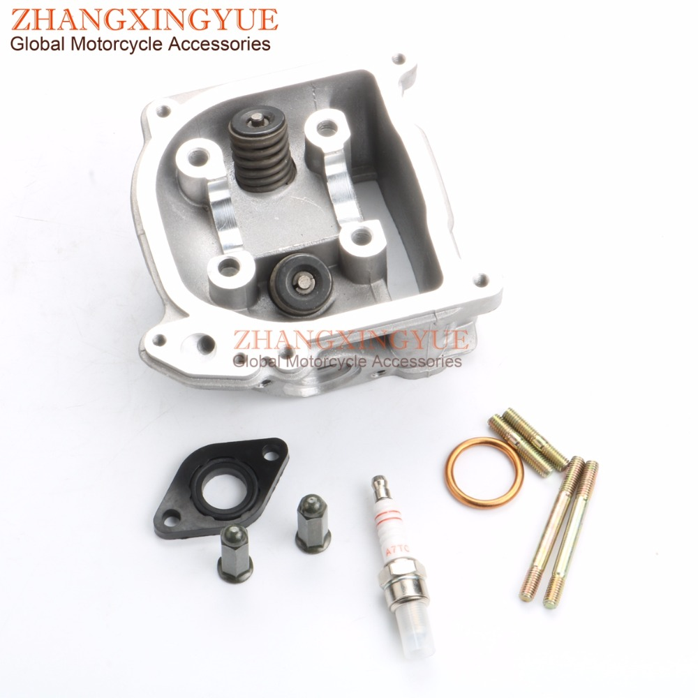 39mm-52mm EGR Cylinder Head & Valve & Bolt for Jinan Qingqi REX RS 400 450 460 <font><b>500</b></font> 900 QM50QT-6A <font><b>10A</b></font> GY6 50cc 139QMB 4T image
